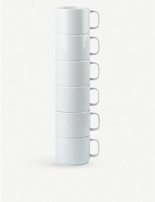 THE CONRAN SHOP: Pillivuyt Orbit porcelain mug 300ml