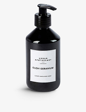 URBAN APOTHECARY Urban Apothecary Oud Geranium hand and body lotion 300ml