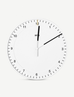 THE CONRAN SHOP Braun 130676 Classic Analogue plastic wall clock 30cm