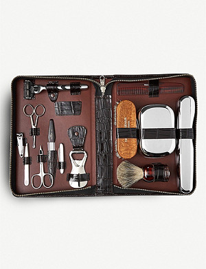 THE CONRAN SHOP F. Hammann Ultimate Grooming Set crocodile-embossed leather