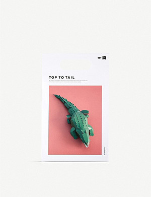 THE CONRAN SHOP Yasuyuki Wada for gu-pa Top To Tail 3D paper crocodile model 4.5cm