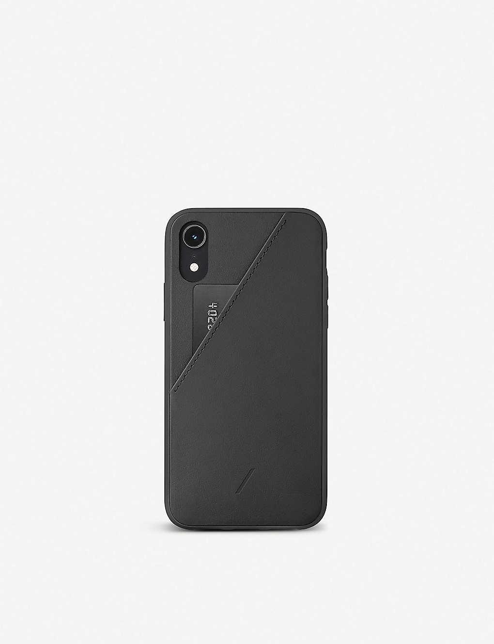 pretty nice 86fbf 74a22 Native Union CLIC Card leather iPhone XR case