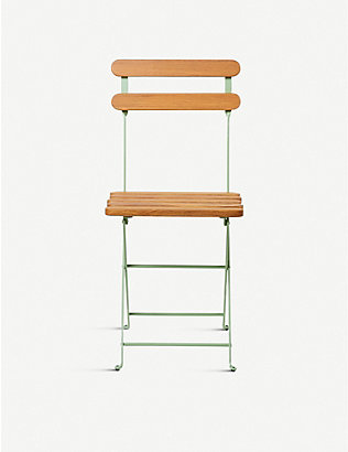 THE CONRAN SHOP: Adico 403 folding metal and wood bistro chair 81cm x 43cm