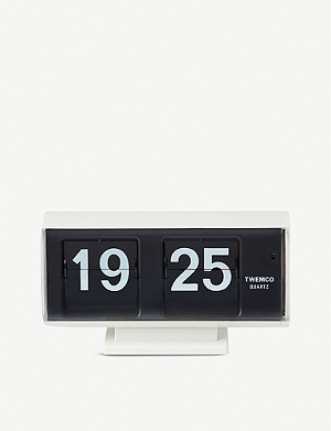 THE CONRAN SHOP QT-30 flip clock white 17.5cm x 9.6cm