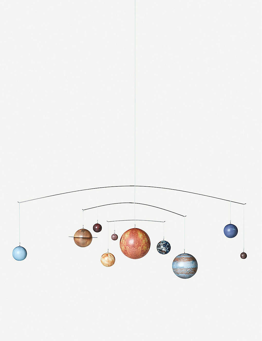 THE CONRAN SHOP: Authentic Models solar system wooden mobile