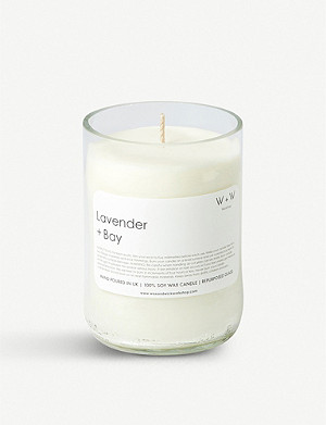 THE CONRAN SHOP Wax + Wick lavender and bay leaf scented candle