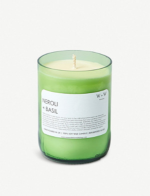 THE CONRAN SHOP Wax + Wick neroli and basil soy wax scented candle