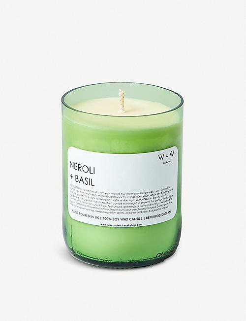 WAX & WICK Wax + Wick neroli and basil soy wax scented candle