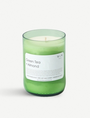 THE CONRAN SHOP Wax + Wick green tea and almond scented candle