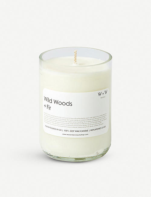 WAX & WICK Wax + Wick wild woods and fir scented candle