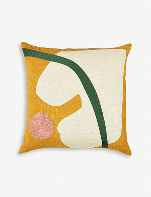 THE CONRAN SHOP Marlie embroidered cushion cover 45cm x 45cm