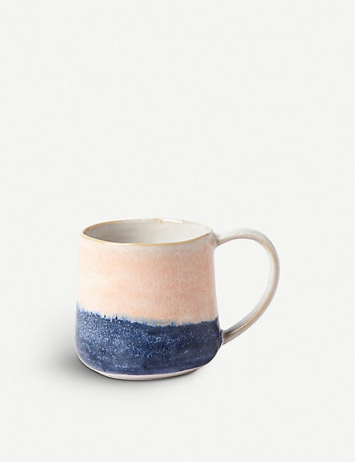 THE CONRAN SHOP Reactive striped ceramic mug 45cl