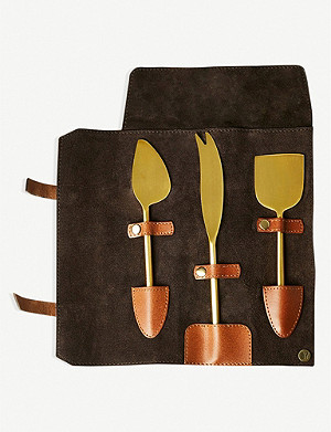THE CONRAN SHOP Nappa Dori brass cheese knives set of three