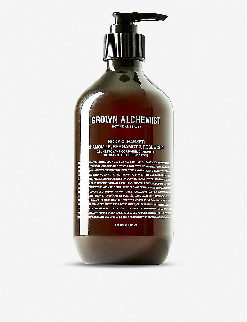 THE CONRAN SHOP: Grown Alchemist Camomile, Bergamot and Rose body cleanser 500ml