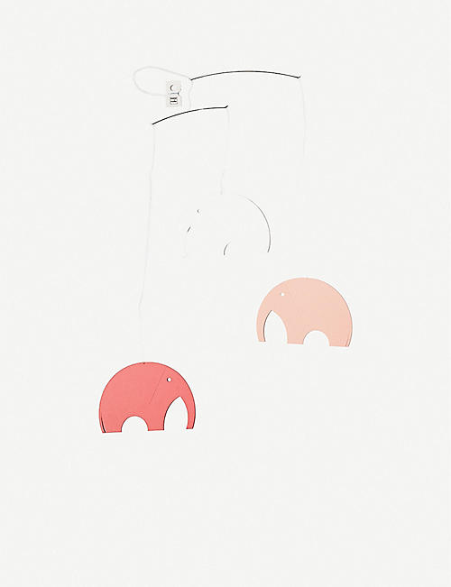 THE CONRAN SHOP: Flensted Olephant Pink Serigraphical foil mobile 35cm