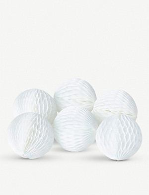 THE CONRAN SHOP Christmas paper-ball present-toppers pack of six