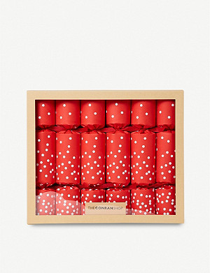 THE CONRAN SHOP Jumbo Confetti Delicatessen Gift Christmas Crackers set of six
