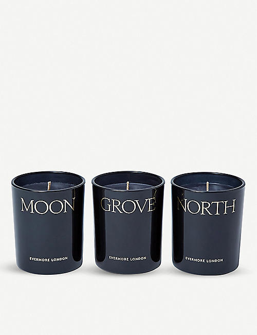 EVERMORE Evermore Nightfall scented candle set of three