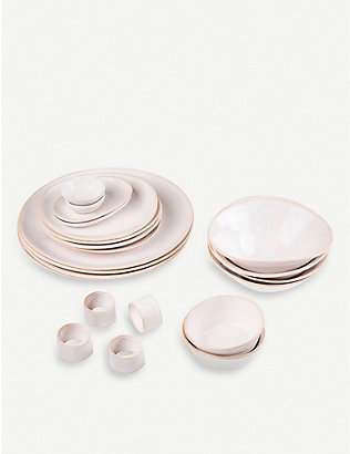 THE CONRAN SHOP: Organic Sand 20-piece dinner party set