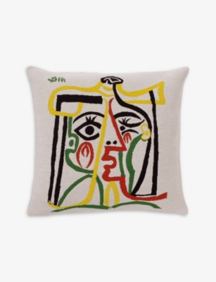 THE CONRAN SHOP Jules Pansu Picasso cotton-blend cushion cover 45x45cm