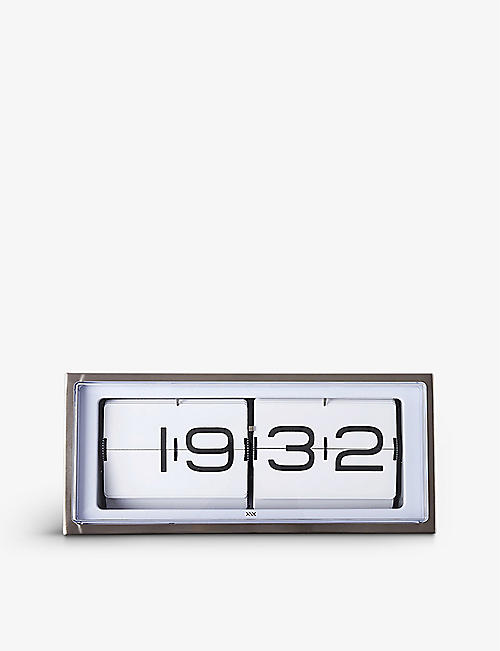 THE CONRAN SHOP Brick 24-hour stainless steel flip clock