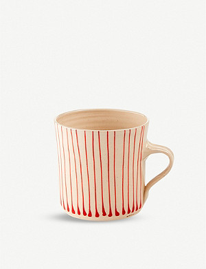 THE CONRAN SHOP Wonki Ware striped pottery breakfast mug
