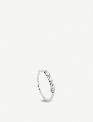MONICA VINADER Fiji diamond and sterling silver stacking ring