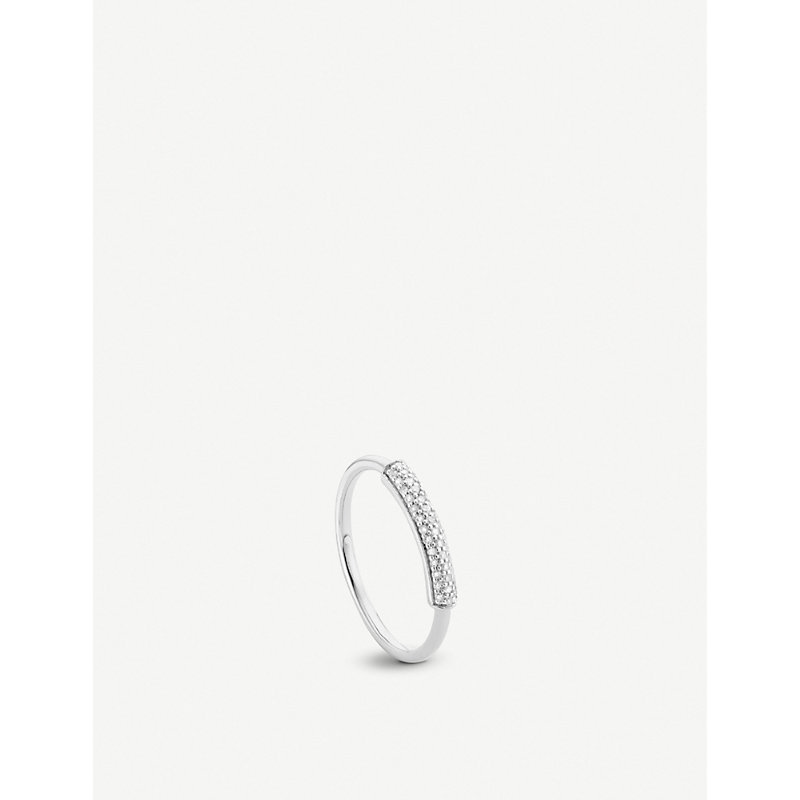 MONICA VINADER | Fiji Diamond And Sterling Silver Stacking Ring | Goxip