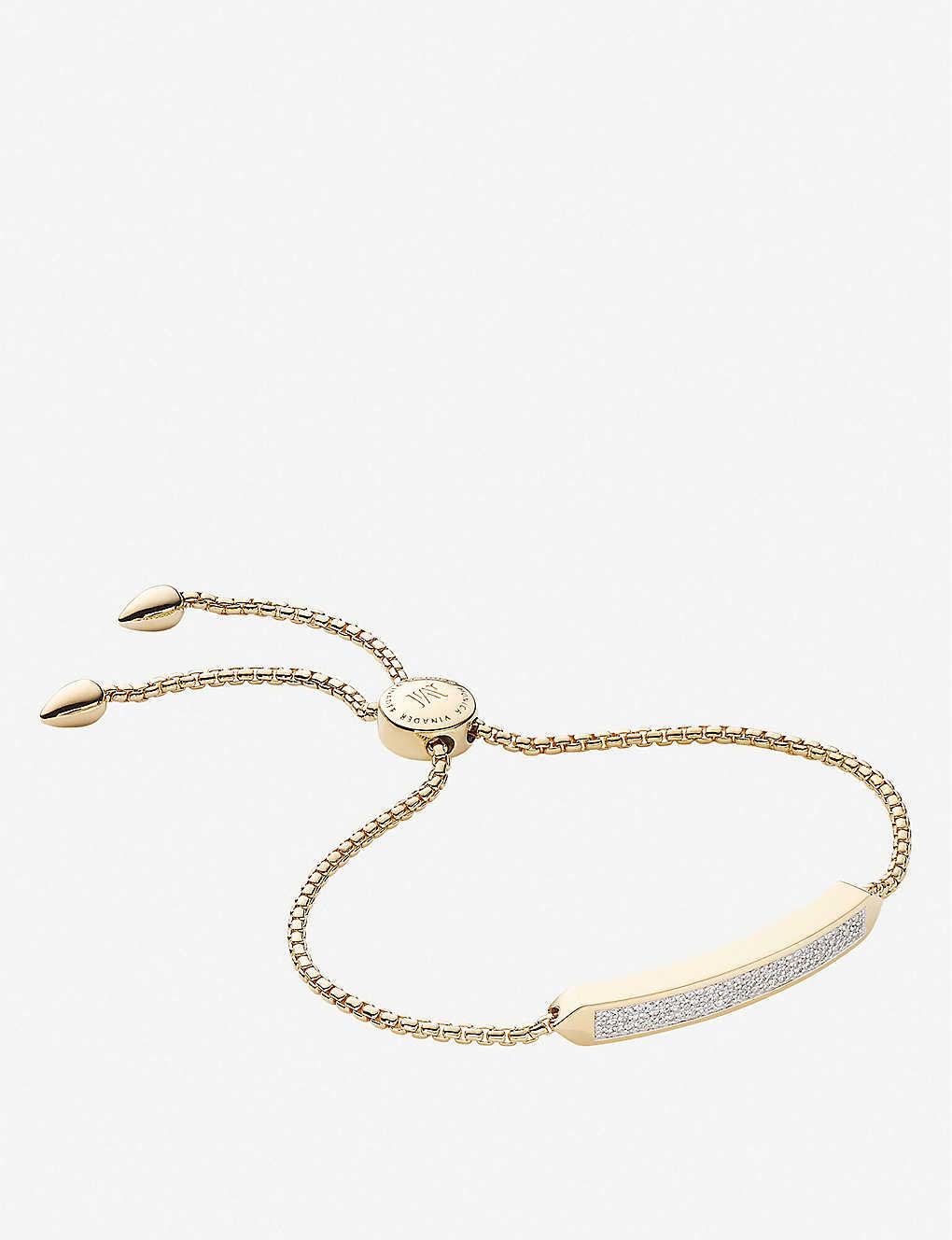 Baja 18ct yellow gold-plated vermeil and 0.264ct diamond bracelet
