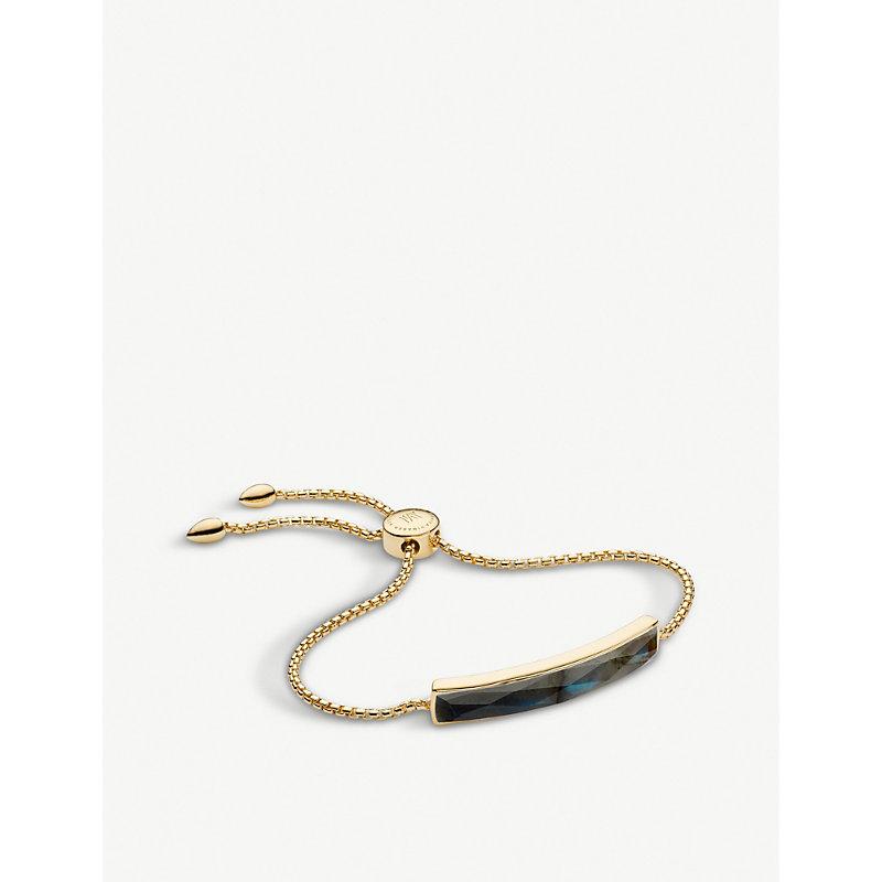 MONICA VINADER | Baja 18ct Gold-Plated Vermeil And Faceted Black Bracelet | Goxip