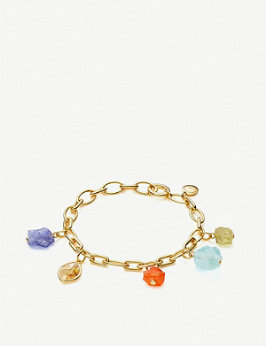 MONICA VINADER Monica Vinader x Caroline Issa 18ct gold-vermeil and gemstone bracelet