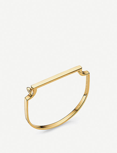 MONICA VINADER: Signature 18ct yellow gold-plated sterling-silver vermeil bracelet