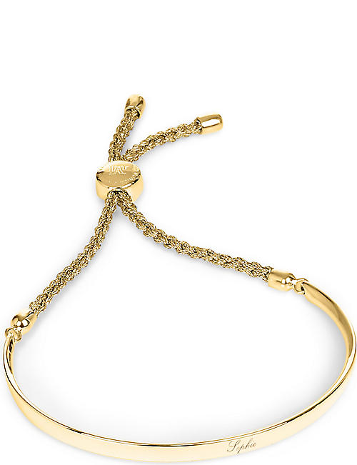 MONICA VINADER Fiji 18ct gold-plated friendship bracelet