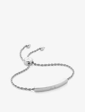 MONICA VINADER Linear silver friendship bracelet