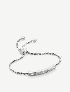 MONICA VINADER Linear sterling-silver friendship bracelet