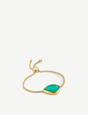 MONICA VINADER Siren Nugget 18ct yellow-gold and green onyx bracelet