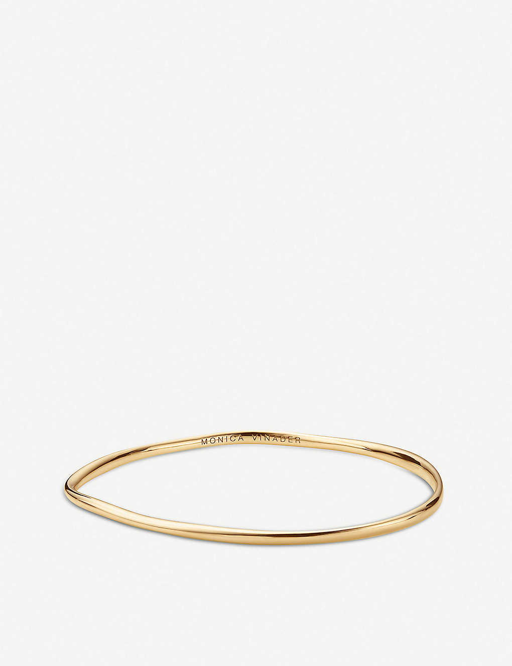 MONICA VINADER: Nura 18ct yellow-gold vermeil on sterling silver reef bracelet
