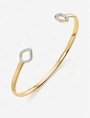 MONICA VINADER Riva kite and circle, diamond, 18ct gold vermeil-plated cuff