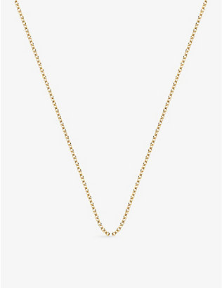 MONICA VINADER: 18ct yellow-gold plated rolo neck chain
