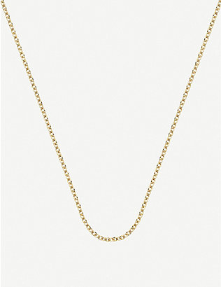 MONICA VINADER: 18ct yellow gold-plated vermeil sterling silver rolo neck chain