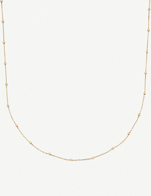 MONICA VINADER 18ct yellow gold-plated vermeil silver chain necklace