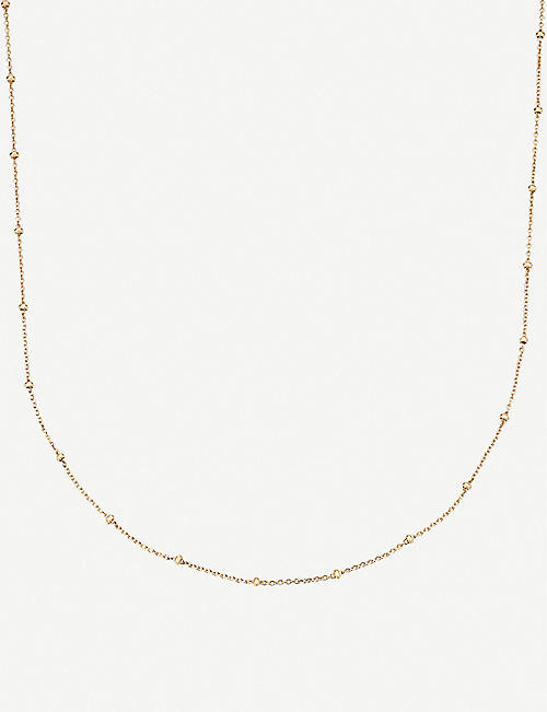 MONICA VINADER: 18ct yellow gold-plated vermeil silver chain necklace