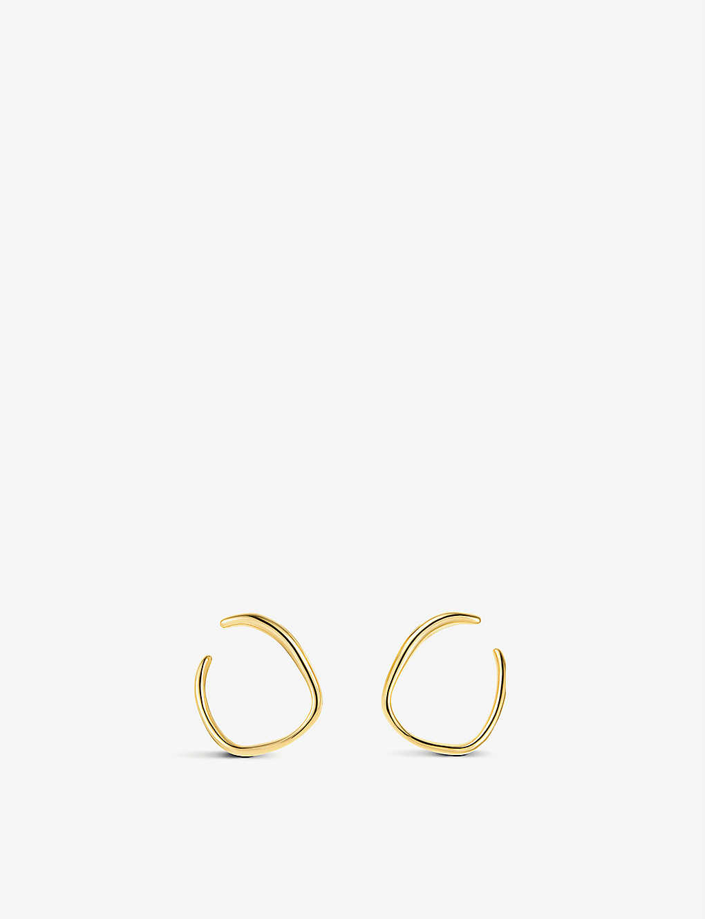 MONICA VINADER: Nura 18ct yellow-gold vermeil on sterling silver reef wrap earrings