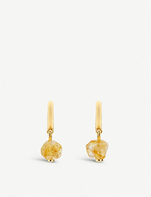 MONICA VINADER Monica Vinader x Caroline Issa 18ct gold vermeil and citrine earrings