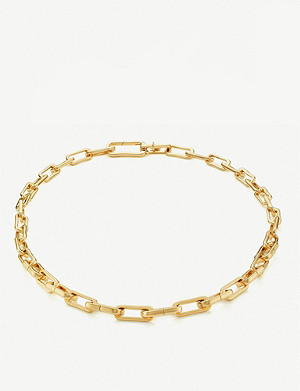 MONICA VINADER Alta Capture Charm 18ct gold-vermeil link necklace
