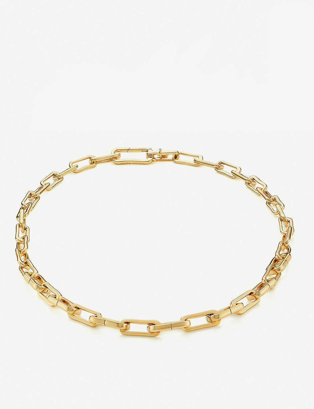 MONICA VINADER: Alta Capture Charm 18ct gold-vermeil link necklace