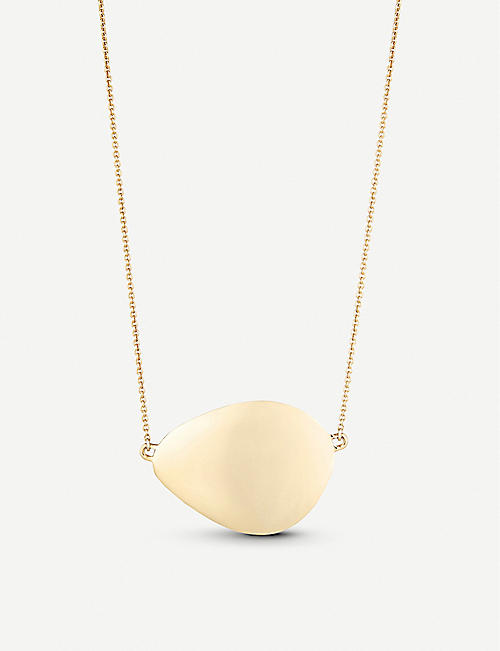 48362fbdb14a MONICA VINADER Nura 18ct yellow-gold vermeil on sterling silver large  teardrop necklace