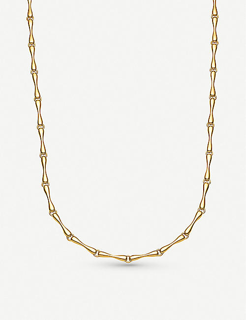 308e496a2 MONICA VINADER Nura 18ct yellow-gold vermeil on sterling silver reef  necklace