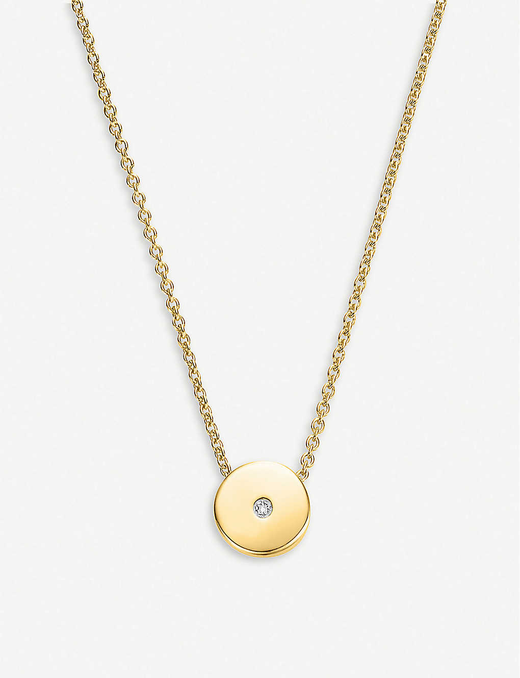 MONICA VINADER: Linear Solo 18ct yellow-gold vermeil and diamond necklace