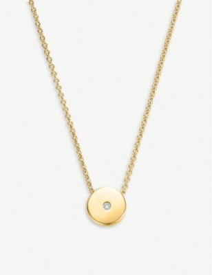 MONICA VINADER Linear Solo 18ct yellow-gold vermeil and diamond necklace
